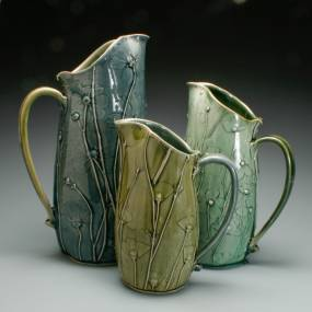 Christy Knox, Above the Surface: Embossed Slab Construction, Ceramics