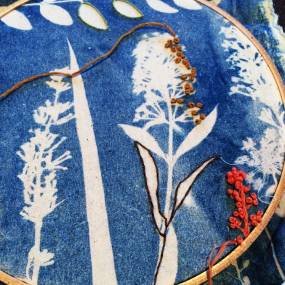 Joetta Maue, Cyanotype and Stitch
