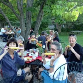 summer eating, fresh food, craft school experience