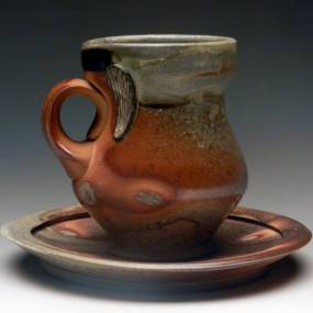 soda firing, handmade mugs, ceramic vessels