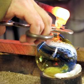 glassblowing ornaments, handmade ornaments