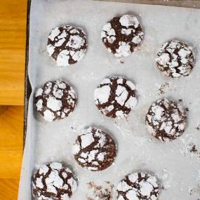 homemade cookies, from scratch, crackle cookies