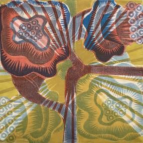 Julia Talcott, Creative Woodcut, 2D, Mixed Media