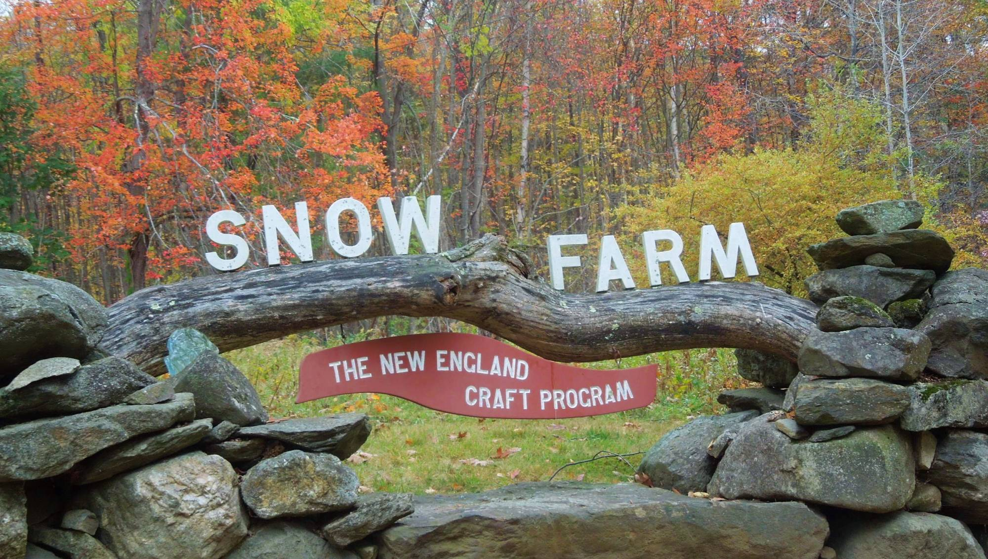 new england fall, new england autumn, historic new england farms, snow farm, craft school